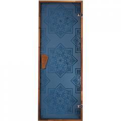 "Дверь для сауны ""СЕЗАМ  Blue"" 1900*700"