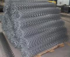 Grid chain-link intaking metal, galvanized Kiev