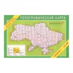 Карта районов Украины (тополисты по квадратам)