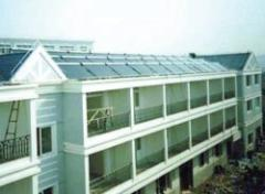 Solar vacuum heliosystems for hot water supply of