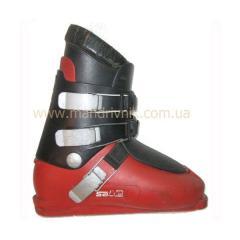 Ботинки горно-лыжные б/у 3 клипсы (красный/черный,