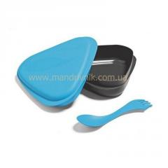 Бокс Light my fire Lunchbox пищевой+вилка (02 passion blue)