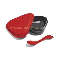 Box of Light my fire Lunchbox food + fork (30 red)