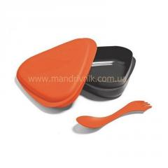 Box of Light my fire Lunchbox food + fork (36 orange)