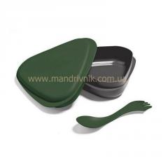 Бокс Light my fire Lunchbox пищевой+вилка (25 darkgreen)