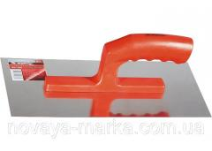 Гладилка сталева, 280 х 130 мм, дзеркальна поліровка, пластмасова ручка MTX 867749