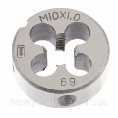 Плашка М10 х 1,0 мм Сибртех 77024