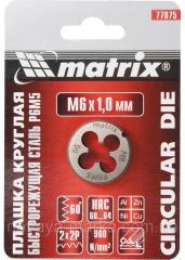 Плашка М12 х 1,25 мм, Р6М5 MTX 770949