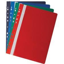 Folder (A4, assortment, 11otv. PVC)