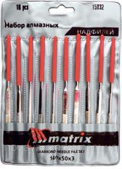 Набір надфілів алмазних, 140х50х3, 10 шт. MATRIX MTX 158329