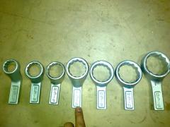 Ключи накидные односторонние коленчатые