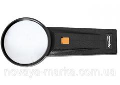 Лупа 2,5-кратна, D 75 мм, з підсвічуванням, з рукояткою Sparta 914695