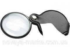 Лупа 2,5-кратна, D 50 мм, що складається кишенькова Sparta 914705