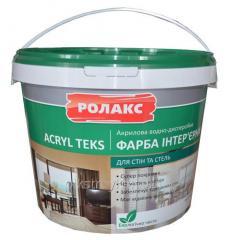 El tinte acrílico interernaya Akril Teks 7,0кг Rolaks mate 1/60