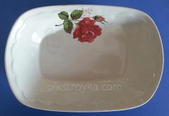 Salát mísy 200 ml keramika aspik Růže červené Ukrajina 1/20