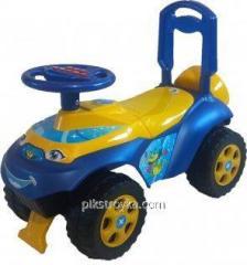 Samochód zabawkowy do jazdy na nartach muzyczny żółto-niebieski Автошки Doloni ДТ 1/1
