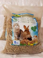 The granulated filler for toilets of pets