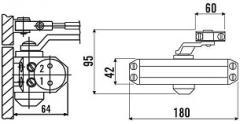 Дверной доводчик ECO Schulte (Германия) TS-10