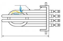 Блок нагревателей 8,0 кВт ТЭНБ-2 из двух нагревателей