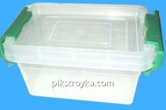 Container for pishch. products of 1000 ml, rectangular, with latches and laying Berlusconi Consensus 1/10