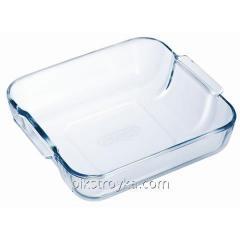 Form for roasting glass 21*21sm square Pyrex 1/1