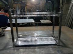 Полка сушка 2х ур. для посуды 1200х320х600