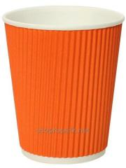 Paper cups of a corrugation of 185 ml