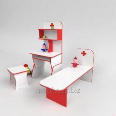 Игровая стенка Больница со стульчиком для садика