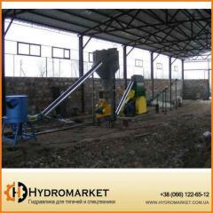 Линия для производства топливных брикетов из