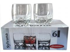 Set of glasses 6 ave. of 200 ml of low Whisky of Silvanus Pasabahce 6/8
