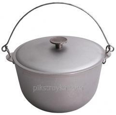 Cauldron aluminum 10,0l h-220mm with a cover / cast handles marching Biol 1/5
