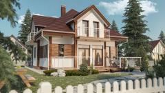 Каркасные дома Киев ( Проект В-200)