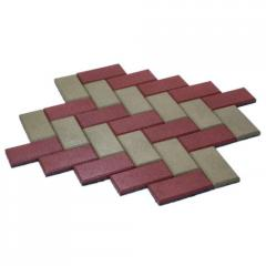 Rubber stone blocks Brick of 20 mm