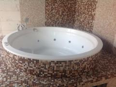 Acrylic round Spa bathtub of 185х185