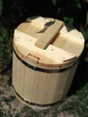 Barrel from an aspen for salting, 20 l