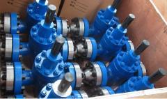 Задвижка масло заполненная, материал 08Х17Н13Мо2, РУ42.0 МПа, DN 350