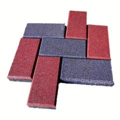 Rubber stone blocks Brick of 40 mm