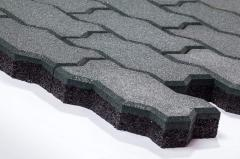 Rubber stone blocks Wave of 40 mm