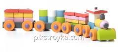 El juguete de madera el tren LР-1 el Cubo 1/1