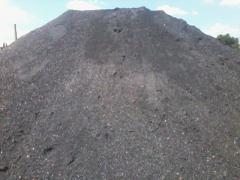 Black coal anthracite ASh grade.