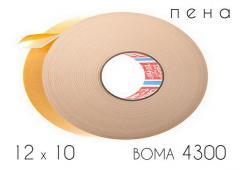 Клейкая лента двухсторонняя (4300) BOMA 12 х 10