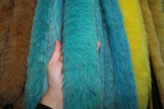 Fur edge from a polar fox turquoise of 70 cm