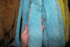 Fur edge from a polar fox blue - turquoise of 70 cm