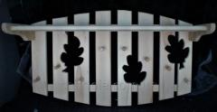 Вешалка -полка для бани из липы