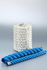 Канат полипропиленовый тросовой свивки (3-х прядный) (Polypropylene three-strand twisted rope)