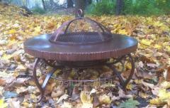 Kostrova table (street center, garden fireplace brazier) round