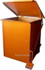 Уличный бак (контейнер) для мусора металличес
