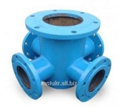 Support under a hydrant crosswise (with krestoviyno) DU100/300 PPKF cast iron/steel
