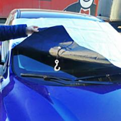 Awning protective on a windshield
