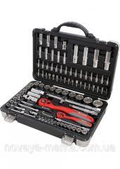 "Набір інструменту, 1/4"", 1/2"", Cr-V, S2, посилений кейс, 94 предм. MTX  Professional"